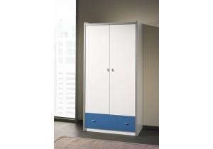 Kledingkast-Bonny-2-deuren-blauw-PSSlapen.nl