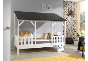 Kids-House-bed---zwart-dak