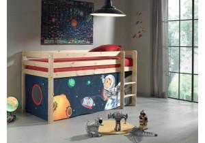 Halfhoogslaper Grenen met tent – Space