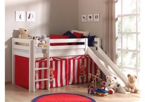 Halfhoogslaper met glijbaan - Circus Chucky tent wit