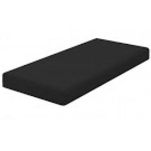 Hoeslaken - twijfelaar zwart 120x200