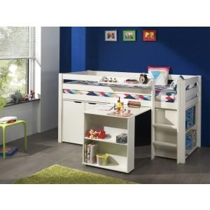 Pino-Halfhoogslaper-met-bureau-laden-en-boekenkast