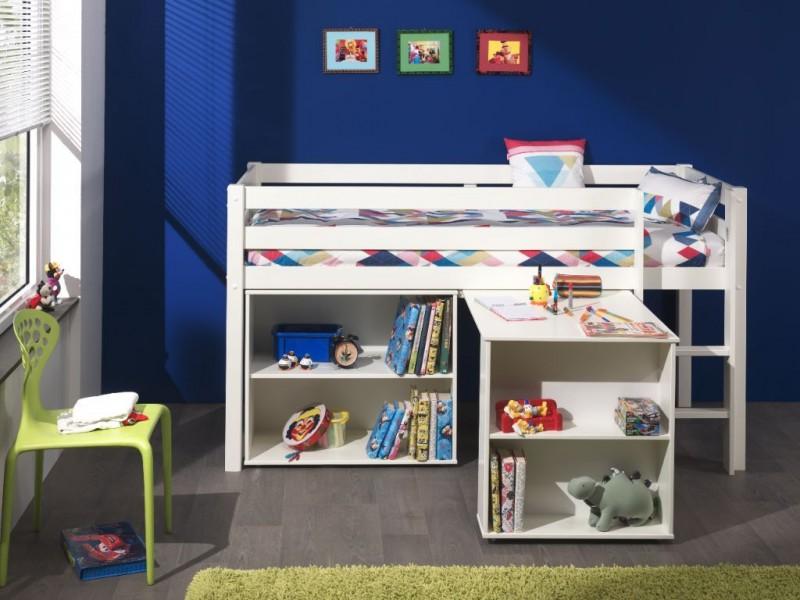 Halfhoogslaper-Wit-met-bureau-en-boekenkast