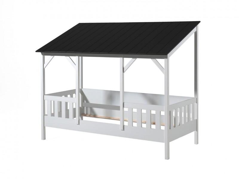 Kids-House-bed-met-zwart-dak