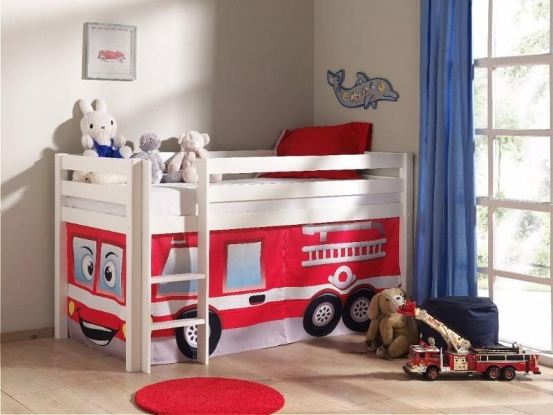 Halfhoogslaper-Wit-Brandweerwagen
