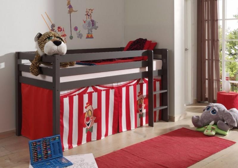 Halfhoogslaper Taupe met tent – Circus Chucky
